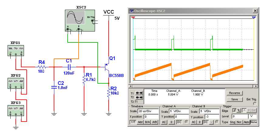 Circuito Recortador : Sincronismo horizontal y vertical